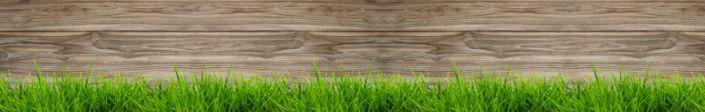 фартук для кухни трава доска дерева