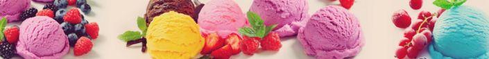 фартук для кухни мороженое разноцветные