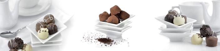 фартук для кухни шоколадные конфеты в белом