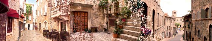 скинали для кухни фрески каменные улочки домов