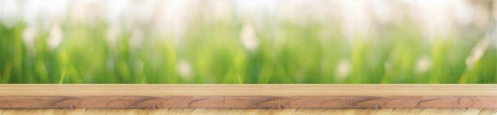 фартук для кухни доска деревянная и трава
