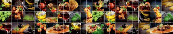 фартук для кухни под плитку гастрономия продуктов