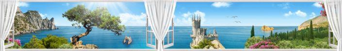 фартук для кухни вид из окна ялта море ласточкино гнездо