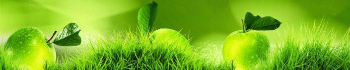 фартук для кухни трава зелёное яблоко