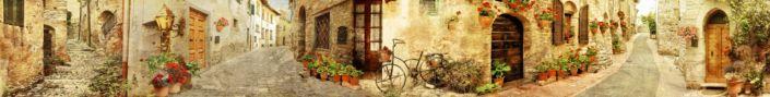скинали для кухни фрески улочки каменных домиков