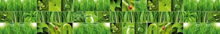фартук для кухни коллаж зелённых растений