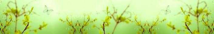 фартук для кухни растение туман