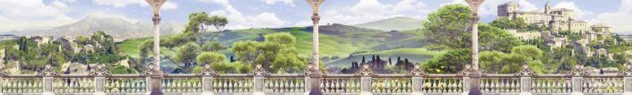 фартук для кухни фрески вид на замок с веранды