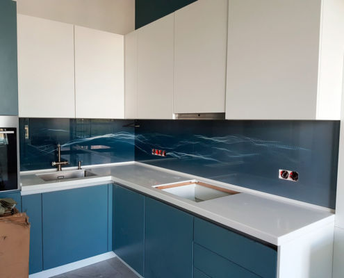 кухонный фартук абстракция