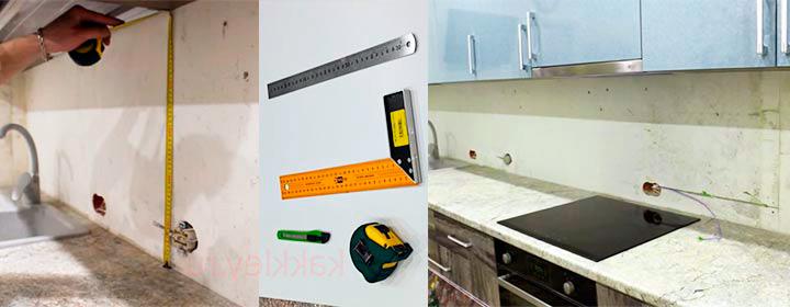 Установка-кухонного-фартука-из-стекла